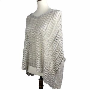 Anthropologie Sparrow Crocheted Poncho Sweater